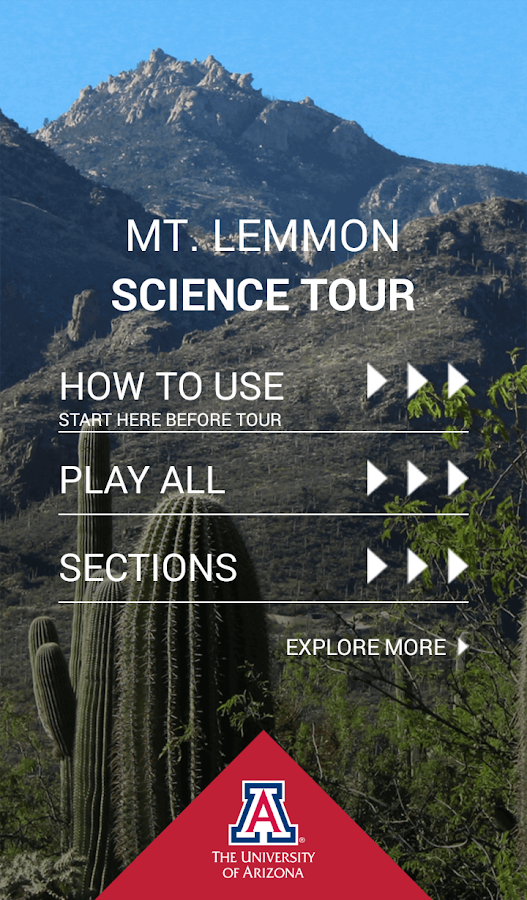 Mt. Lemmon Science Tour- screenshot