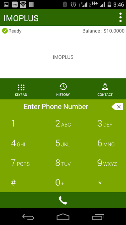 Screenshots of IMOPLUS for Android