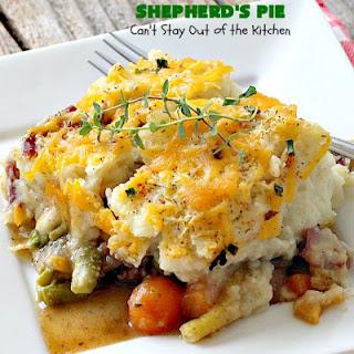Loaded Beef and Vegetables Shepherd's Pie.