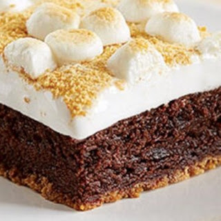 Fudgy S'mores Brownie Bars.