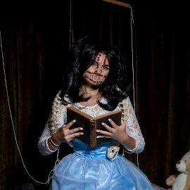 if i could speak the words by John Richards - People Portraits of Women ( makeup, puppet, hallowen, horror, mua )