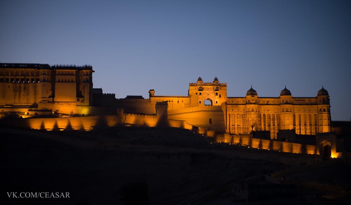 Амер форт вечером, Джайпур
