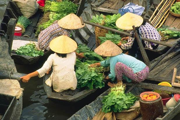 Le marché flottant de Phung Hiep