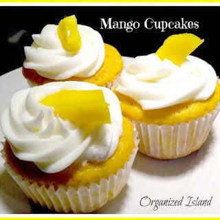 Simple Mango Cupcakes.