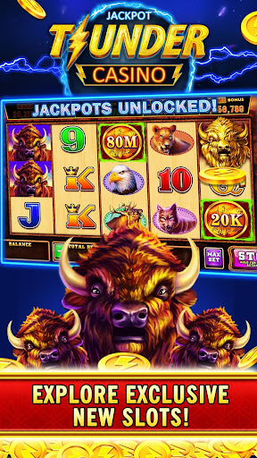 Thunder Jackpot Slots Casino - Free Slot Games screenshots 1