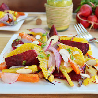 Root Vegetable Salad with Orange-Tarragon Vinaigrette