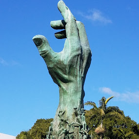 Reaching for Help by Vijay Govender - City,  Street & Park  Historic Districts ( florida, holocaust memorial )
