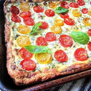 Cherry Tomato & Ricotta Tart