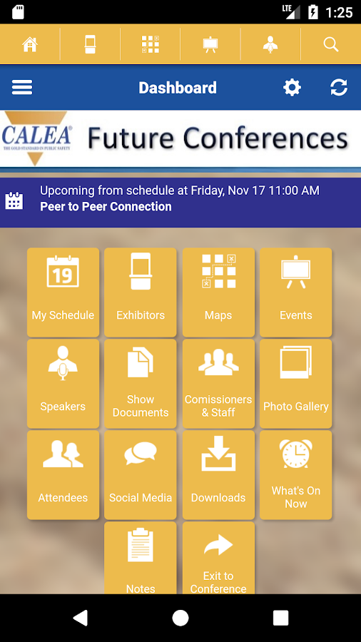 CALEA Conferences- screenshot