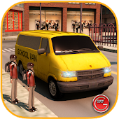 School Van Driver Simulator 3D Android APK Download Free By Glow Games