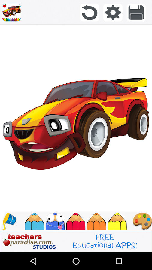 Cars Coloring Book Game - Android Apps on Google Play