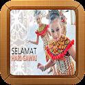 Gawai Dayak Greeting Card icon