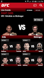 UFC.TV & UFC FIGHT PASS Screenshot 7