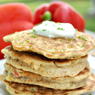 Corn and Bell Pepper Pancakes