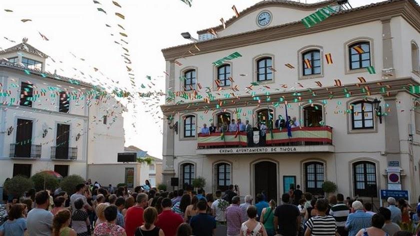 Imagen de archivo de Tíjola durante la celebración de sus fiestas.