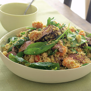 Spiced Lamb, Couscous, and Spinach Salad