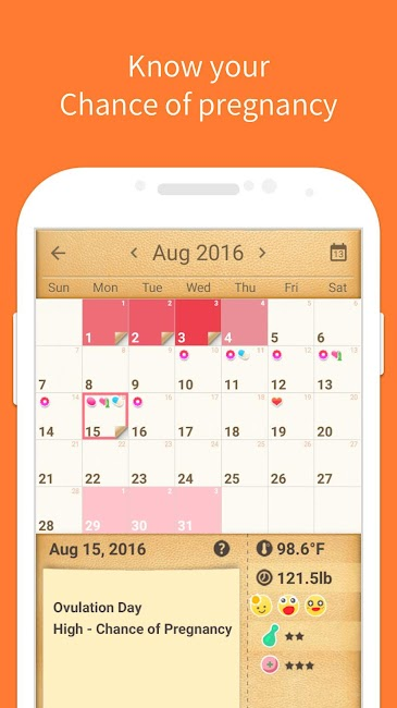 #2. Period Tracker, My Calendar (Android)