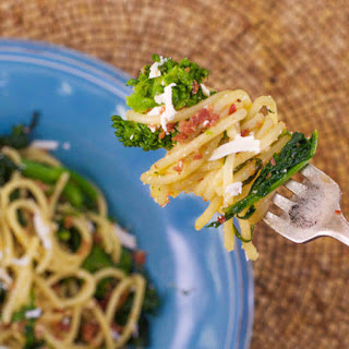 Spaghetti with Broccoli Rabe and Salami