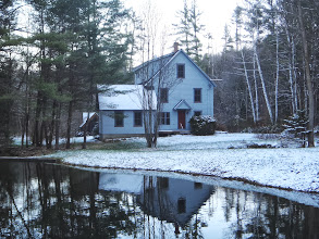 Photo: House and pond in early winter