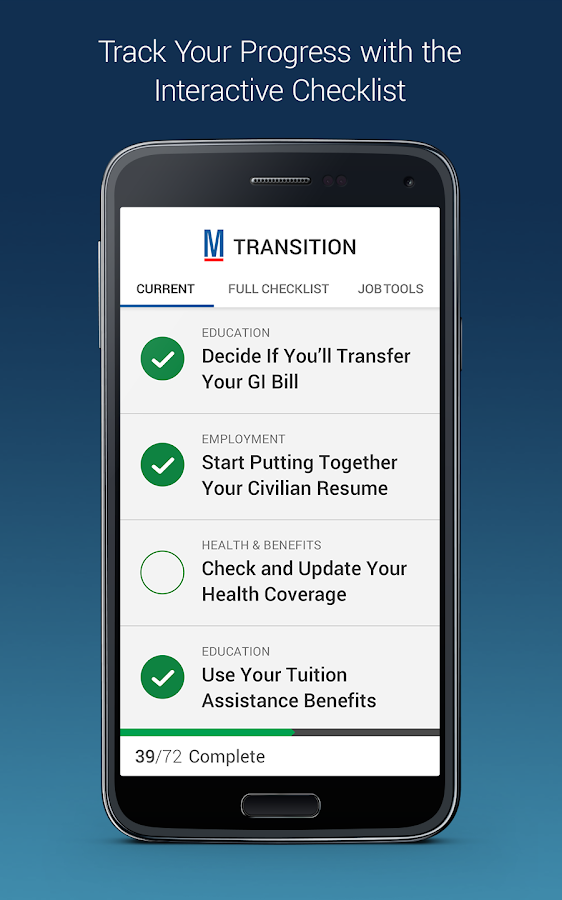 Transition by Military.com- screenshot