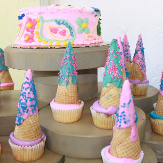 Simple Unicorn Horn Cupcakes.