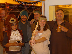 Photo: hallowe'en 2012, robin hood, maid marion, little john, friar tuck and friends