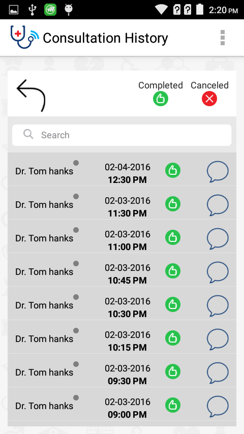 MyDoctorsChat- screenshot