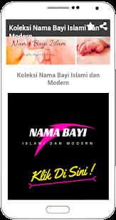 Nama Bayi islam dan Makna - náhled