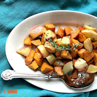 Roasted Apples and Sweet potatoes.