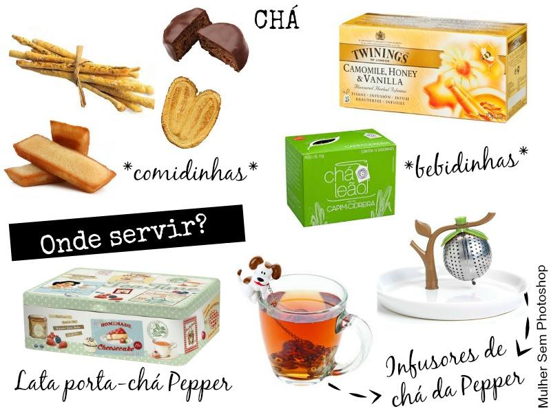 Comidinhas e louças de inverno - chá