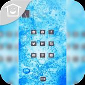 Cool blue bubbles theme