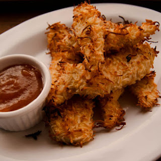 Coconut Crusted Chicken Strips.