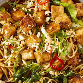 Sweet and Sticky Tofu with Baby Bok Choy Recipe