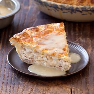 Moravian Roast Turkey (or Chicken) Pie with Gravy.