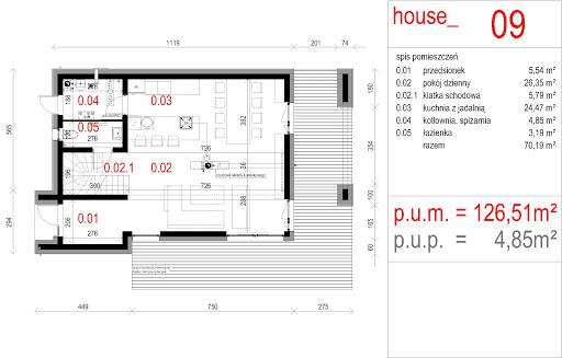 House 09 - Rzut parteru