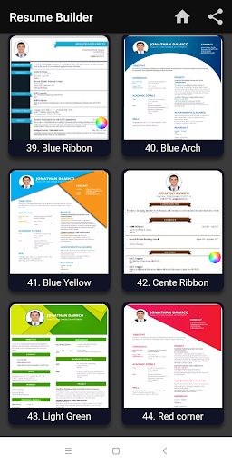 Resume builder Free CV maker templates formats app 9.3 screenshots 13