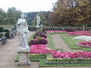 Photo: Statues in the formal garden.