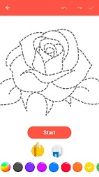 How To Draw Flowers APK screenshot thumbnail 1