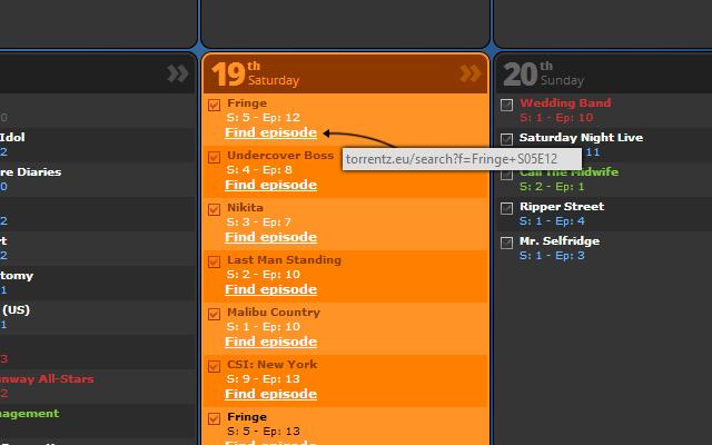 Tv Calendar Enhancement