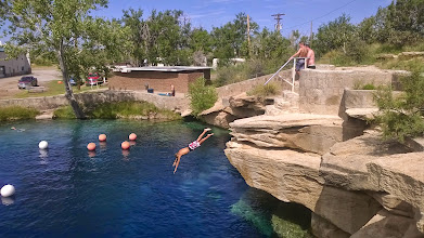 Photo: August 10-Anyone can dive off the rocks into the 61-degree water.