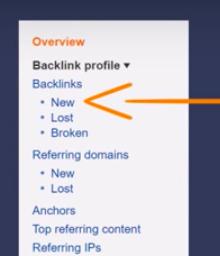 New backlinks