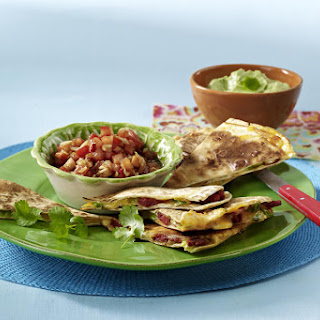 Prawn and Chorizo Quesadillas.