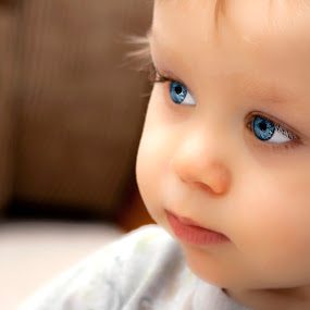 Angel Face by Bobbie Clark - Babies & Children Children Candids ( babies, blue eyes, children, portraits, close up )
