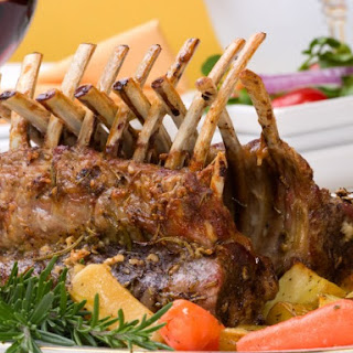 Rack Of Lamb With A Mustard Rub.