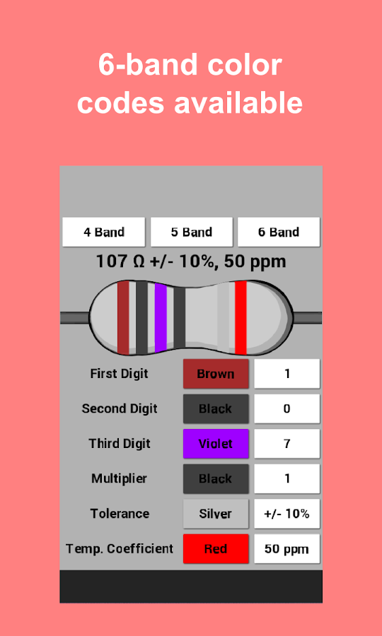Resistor color code calculator android apps on google play resistor color code calculator screenshot sciox Images