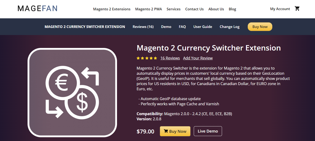 magento 2 currency switcher extension
