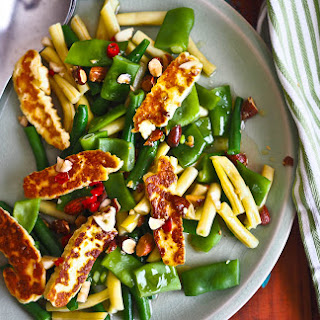 Summer Green & Yellow Bean Halloumi Salad