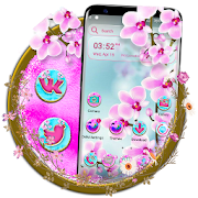 Pink Orchid Flower Launcher Theme