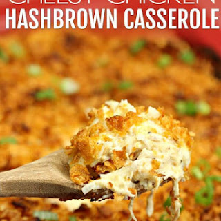 Easy Chicken Hashbrown Casserole.