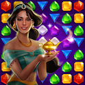 Genies & Gold - Match 3 Jewel & Gem Adventure icon